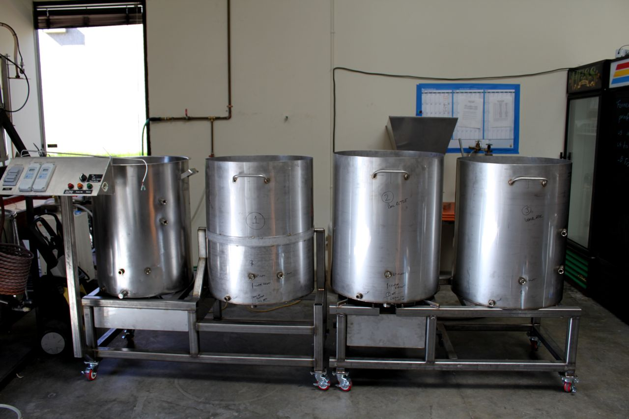 The Installation Of The Brewery Mike Hess Brewing Of