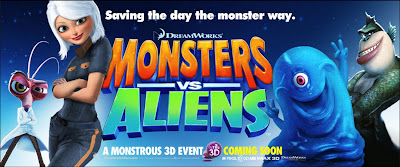 Monsters vs Aliens in 3D