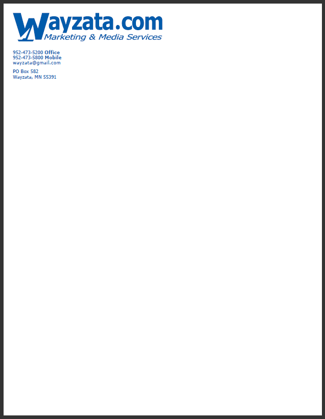 Business Letter Using Letterhead | Professional Cover Letter Example