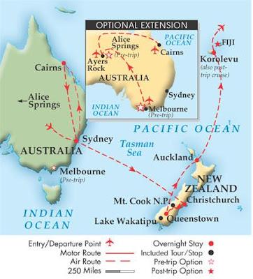 Map Of Australia New Zealand And Fiji.Chris Trost S Travel Blog Chris 2005 Australia New Zealand Fiji