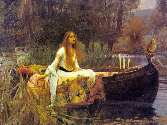 La dama de Shalott, pintura de John William Waterhouse