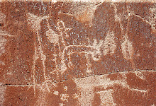 Peñas coloradas -petroglifos (Catamarca)