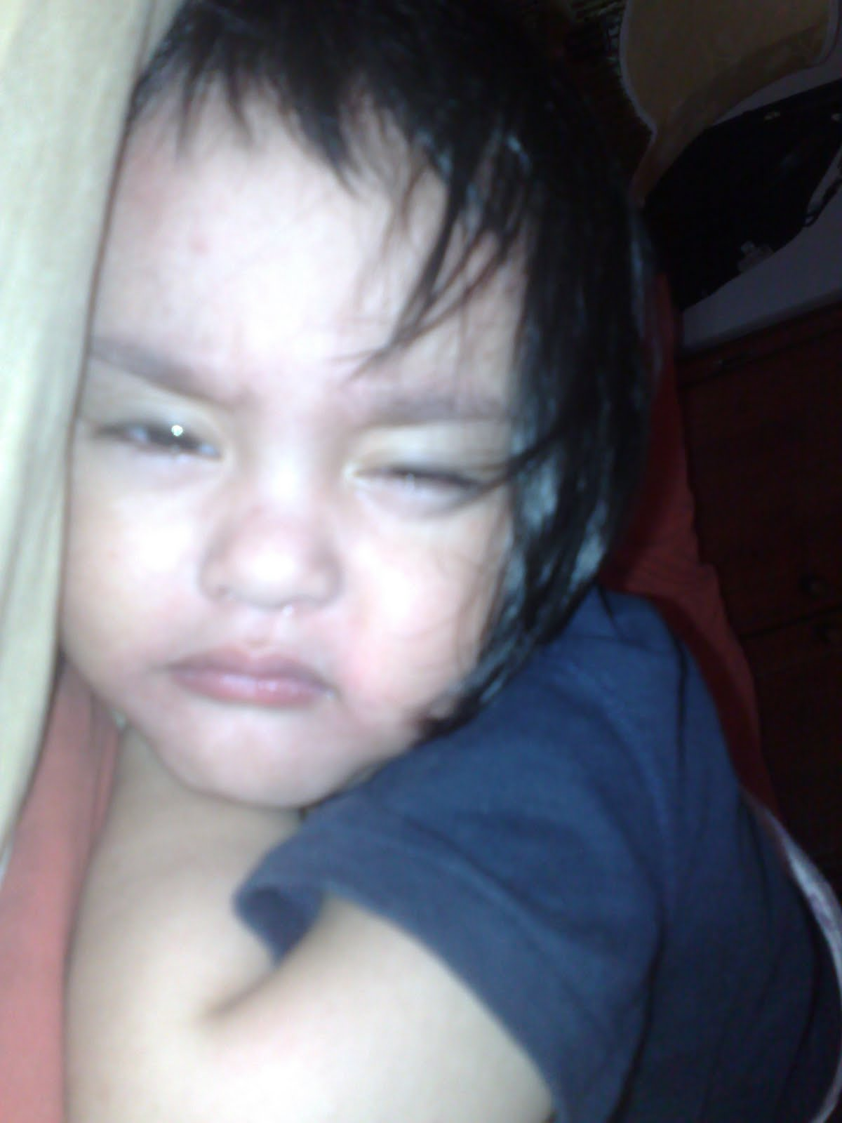 He Had A Fever Badan Dia Panas And Stomach Discomfort Purging All Night Was Ping Motion Watery Pooh By Morning His