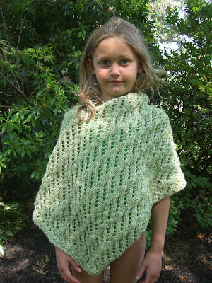 From The Ground Up Easy Poncho Knitting Pattern