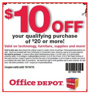 office depot coupons good on technology