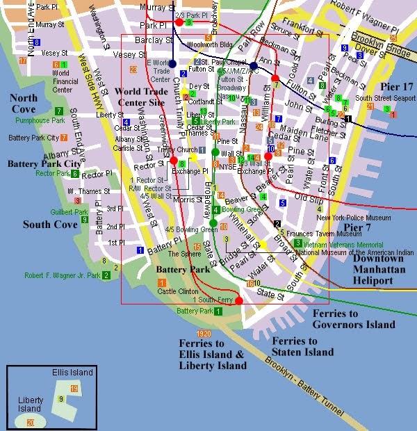 Manhattan Streets: Trail Tramps: Walk Hudson River Park NYC Downtown: Ferry