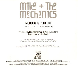 MIKE & THE MECHANICS  nobody's perfect  1988