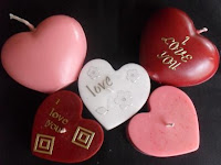 valentine heart shaped candle greeting cards