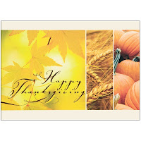 Recycled Paper Thanksgiving Card