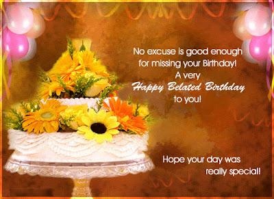 Belated Birthday Sayings