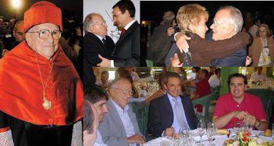 El carnicero de Paracuellos junto a sus amigos socialistas: El presidente español, el Sr. Rodriguez Zapatero; la vicepresidenta, Dª. Mª Teresa Fernández de la Vega y el ex presidente de la Federación Socialista Madrileña, el Sr. Rafael Simancas.