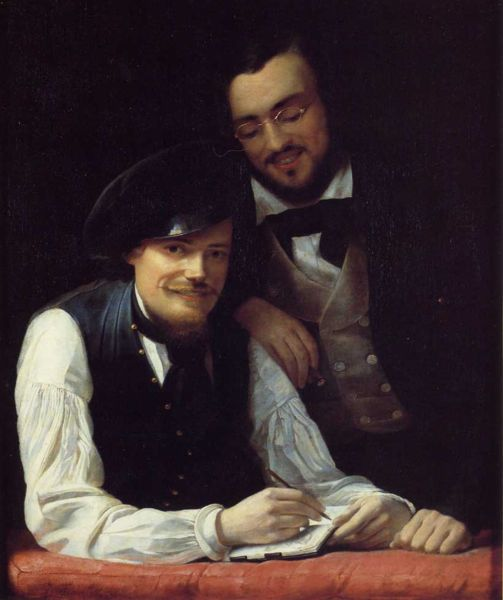 Franz Xavier Winterhalter, Self Portrait, Portraits of Painters, Fine arts, Xavier Winterhalter