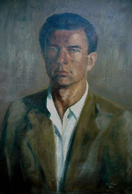 Bartos Endre, Self Portrait, Portraits of Painters, Fine arts, Portraits of painters blog, Paintings of Bartos Endre, Painter Bartos Endre