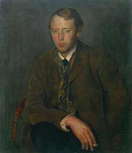 Aksel Waldemar Johannessen, Self Portrait, Portraits of Painters, Fine arts, Aksel Waldemar