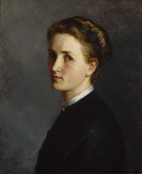 Ida Silfverberg, Self Portrait, Portraits of Painters, Fine arts, Portraits of painters blog, Paintings of Ida Silfverberg, Painter Ida Silfverberg