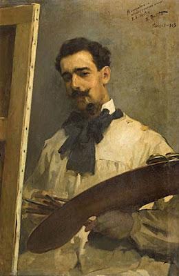 Aurelio Arteta, Self Portrait, Portraits of Painters, Fine arts