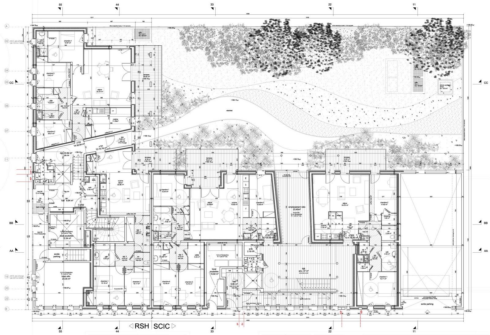 1 1 1 lyon confluence plan de rez de chauss. Black Bedroom Furniture Sets. Home Design Ideas