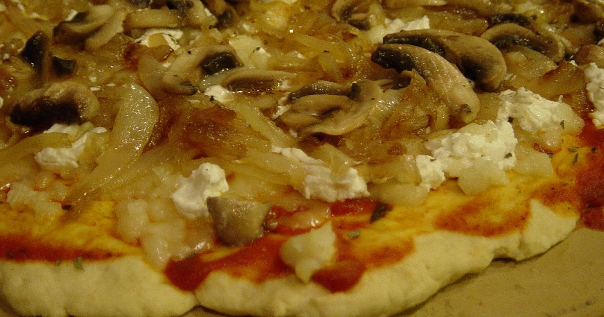 Bird Food Caramelized Onion Mushroom And Goat Cheese Pizza