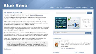 Blue Revo Blogger Template