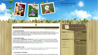 Wooden Fence Blogger Template
