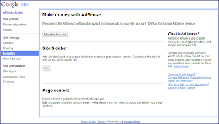 AdSense ads Now on Google Sites