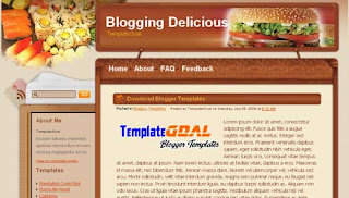 Blogger Template Blogging Delicious
