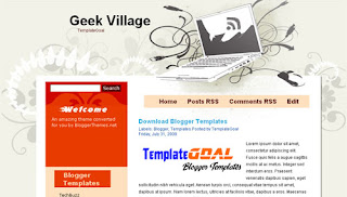Geek Village - New Computers Blogger Template