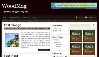 Woodmag free magazine blogger template