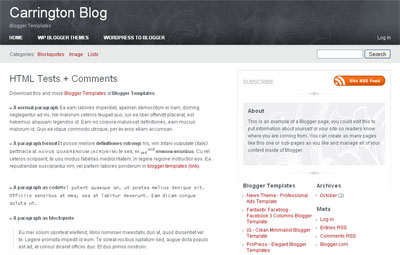 Carrington Blog - Elegant Blogger Template