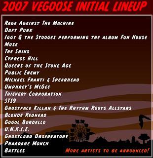 Vegoose 2007 Lineup