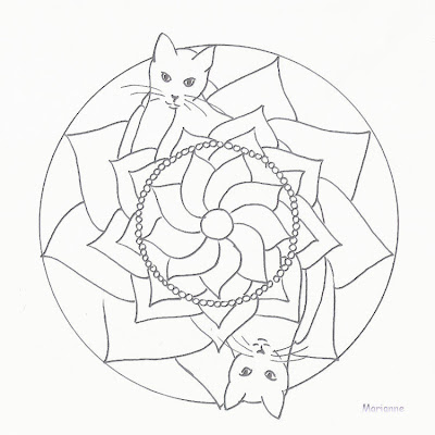 cat mandala coloring pages - mandalas and more cat mandala