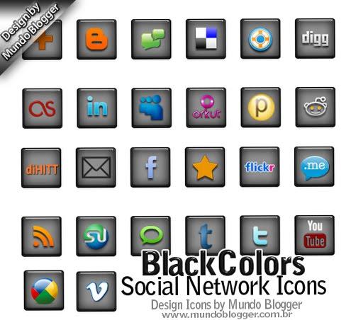 3 pacotes de ícones para redes sociais via Mundo Blogger