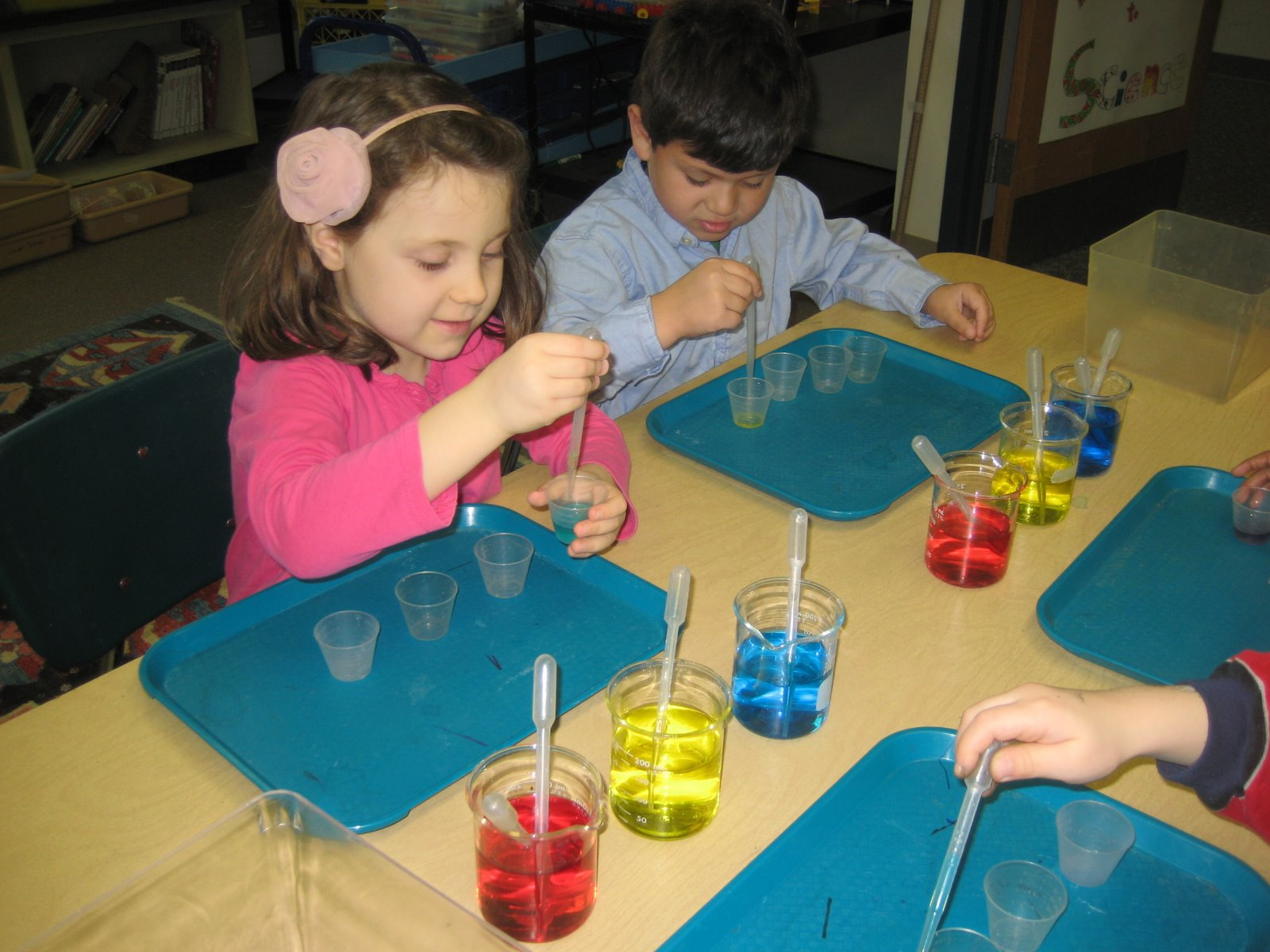kindergarten science chemistry students colors class pipettes unit afs lower multitude beakers primary create