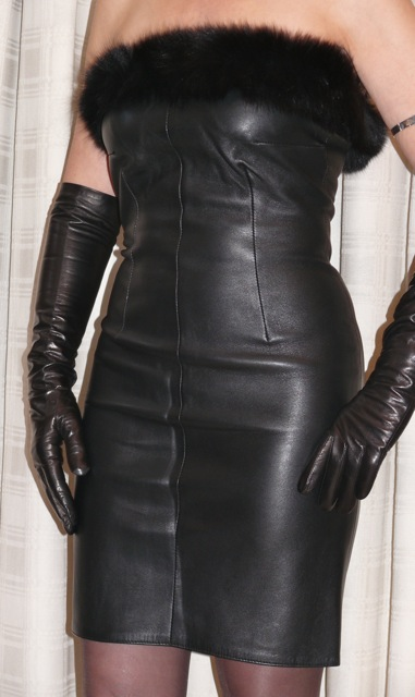 Leather Fasyen Mature Leather Lady