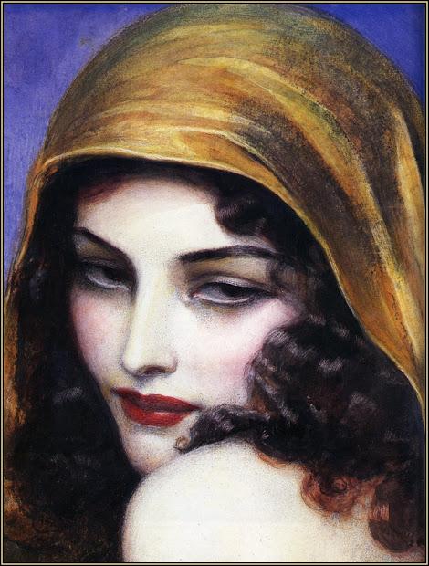 Vintage Gypsy Woman Art