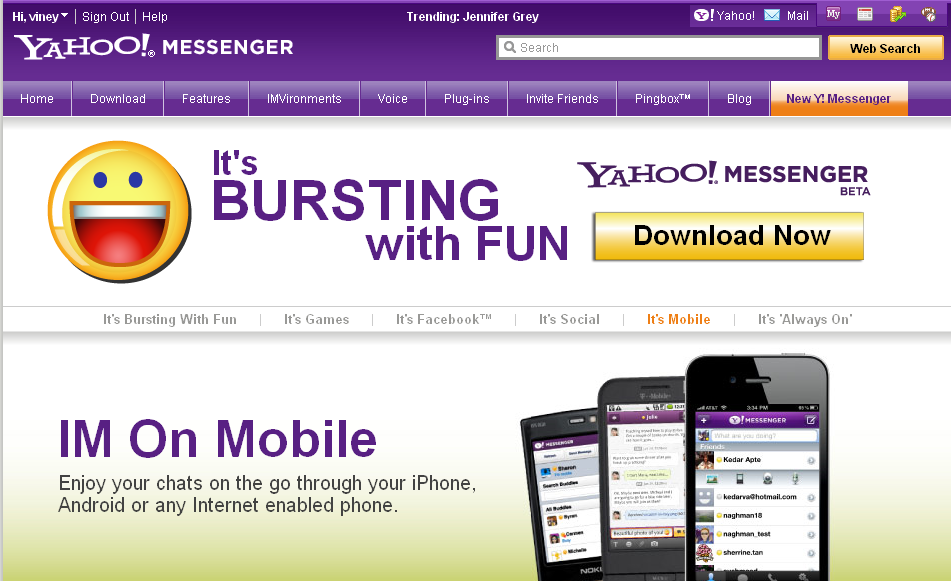 Download Yahoo Messenger 11 beta