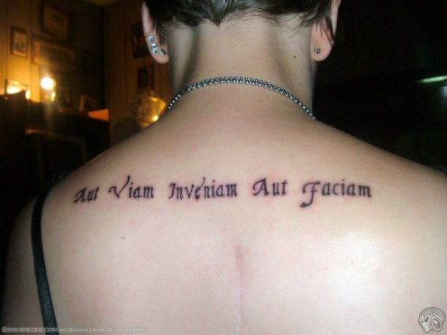 latin phrases tattoo (Latin Phrase On Arm tattoo ) latin peace.
