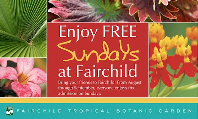 free sundays august through september at fairchild