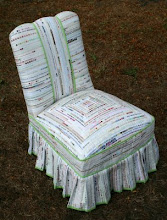 Jodie's selvage chair!
