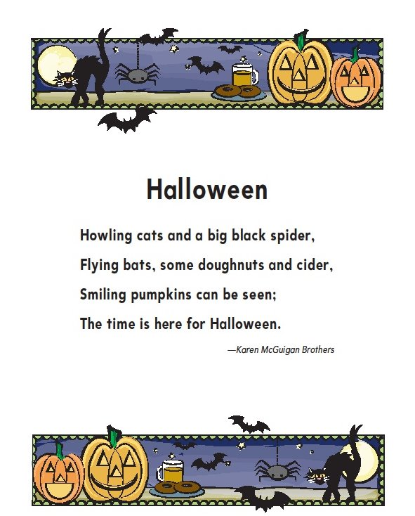 Quote Qqq: New Blog 1: Halloween Poems For Kids