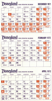 Vintage Disneyland Tickets Disneyland Pocket Calendar December