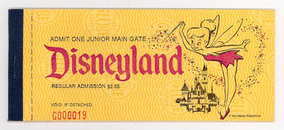 Dating vintage disneyland ticket books