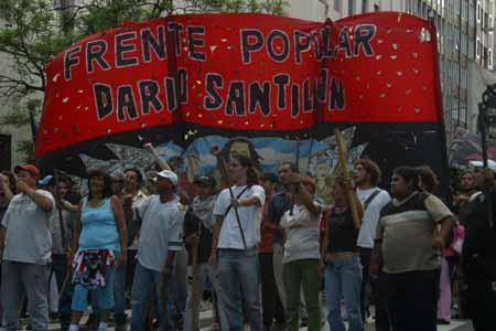 Frente Popular Dario Santillan en la ciudad