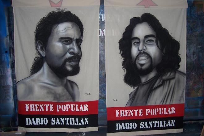 Dario santillan (presente) en la lucha