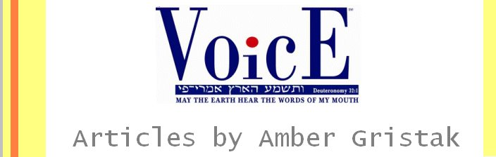 Jewish Voice Articles By Amber Gristak