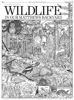 Wildlife illustration from The Matthews Record