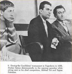 Bobby Fischer en compagnie de Tal et Petrosian