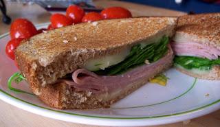 Ham, Mozzarella, and Spinach Panini