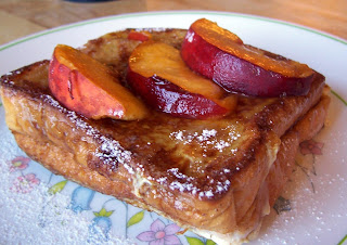 Vanilla French Toast with Peaches and Apple Butter