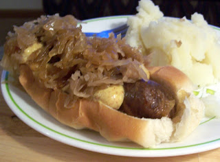 Brats and Sauerkraut